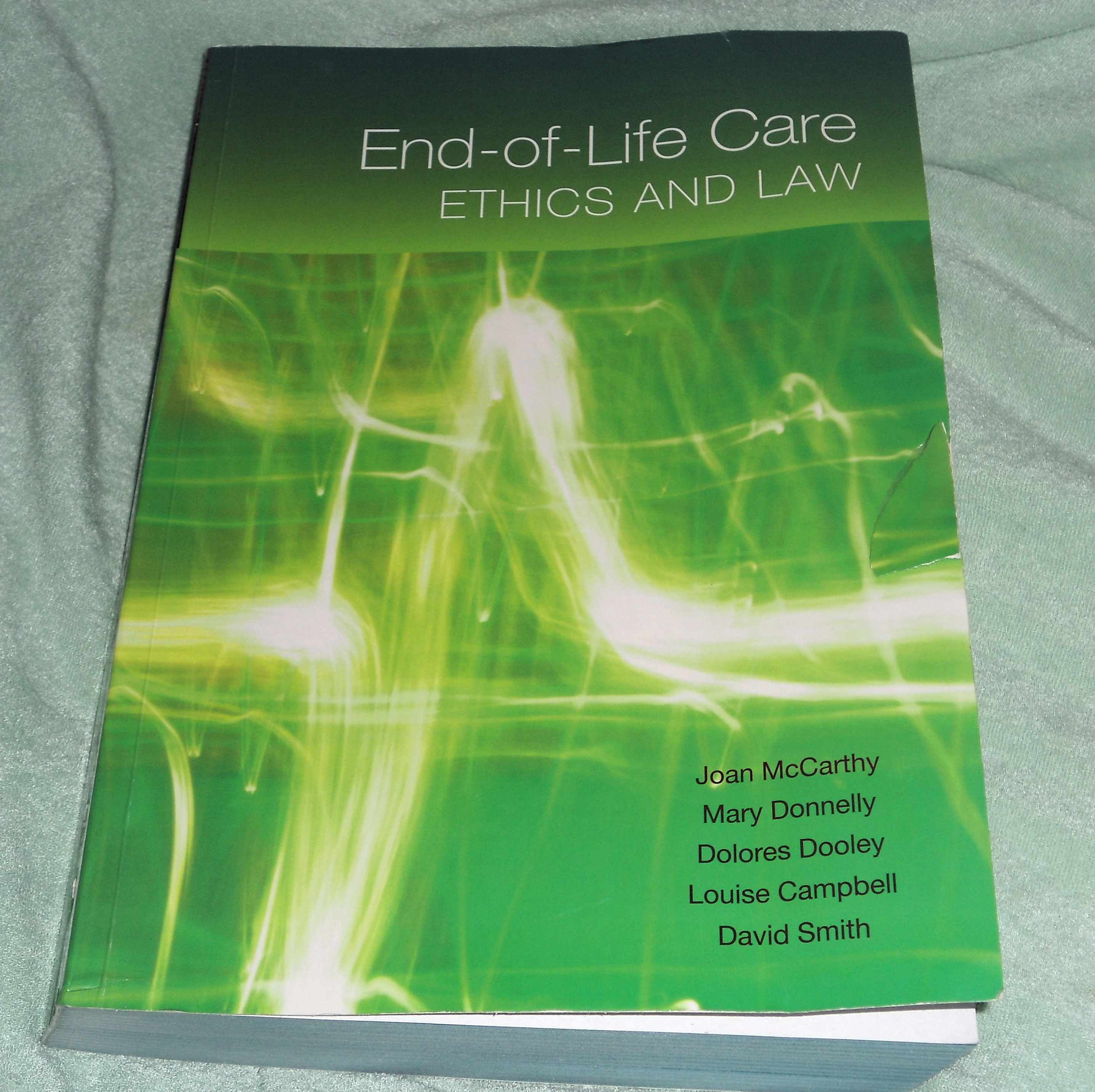 "ethics end of life choice A christian response to end-of-life  for it is the choice to kill by  death and life in the '90s,"" life at risk: the crises in medical ethics,."