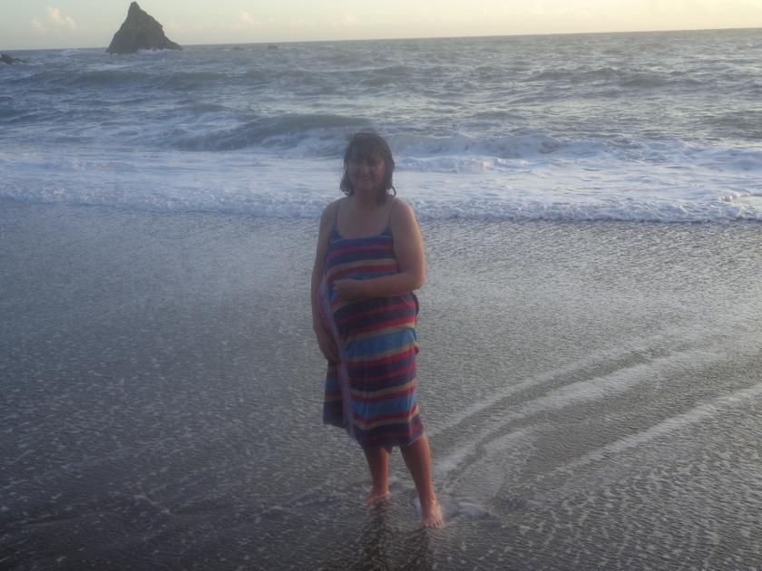 Swim at Sunset at Garrarus Beach, Christmas Eve, 2012