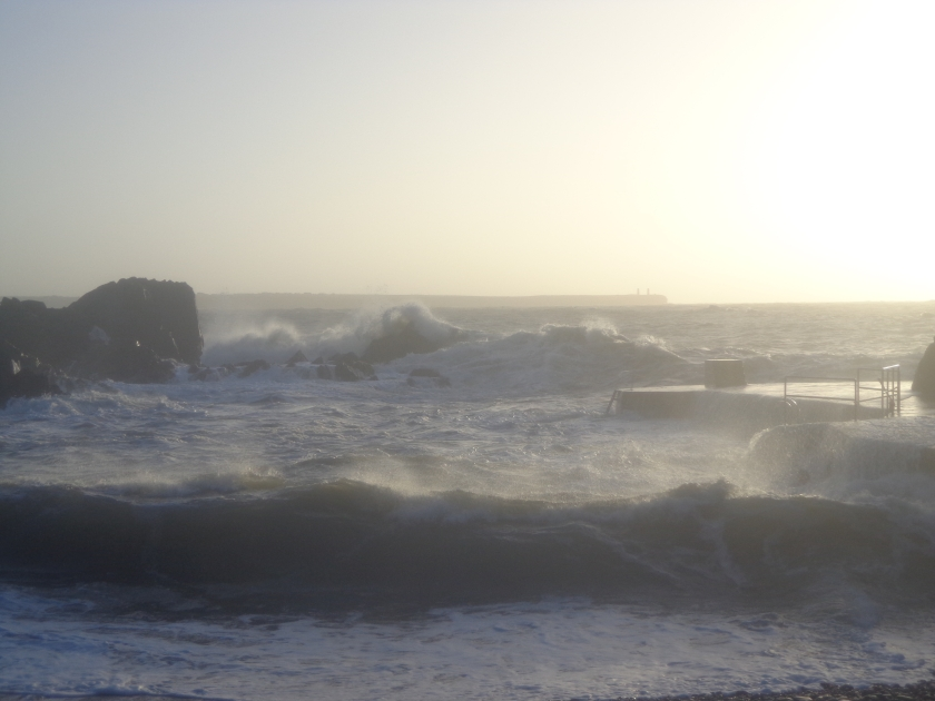 Waves at Sunrise in Newtown Cove, Co. Waterford.