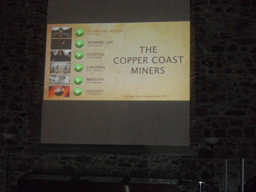 Moments before screening of 'The Copper Coast Miners'