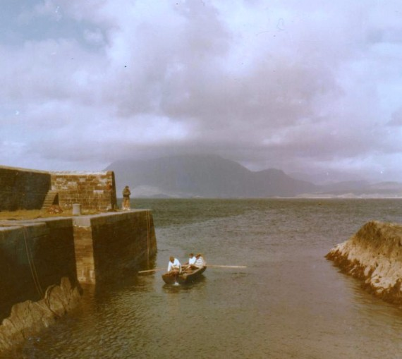 Currach at the Harbour Photo: Frank Tubridy
