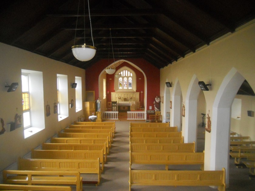 The Interior of Bonmahon Church today