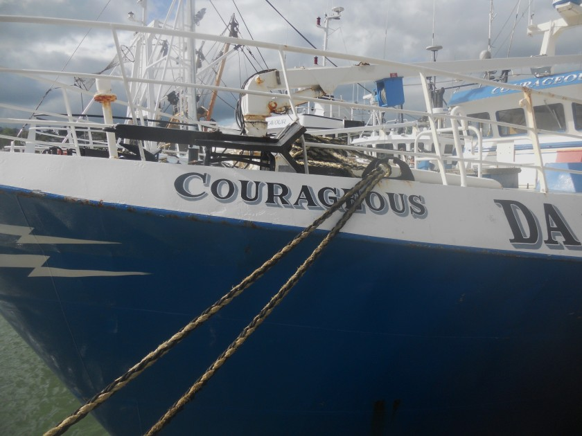 Courageousness moored in Dunmore East, Co. Waterford