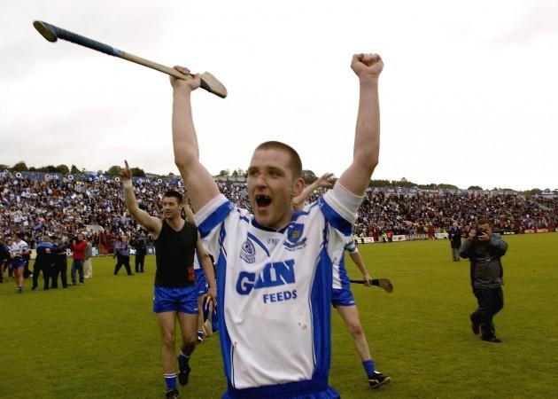Ken McGrath Celebrating Victory in the 2004 Munster Hurling Championship Source: INPHO