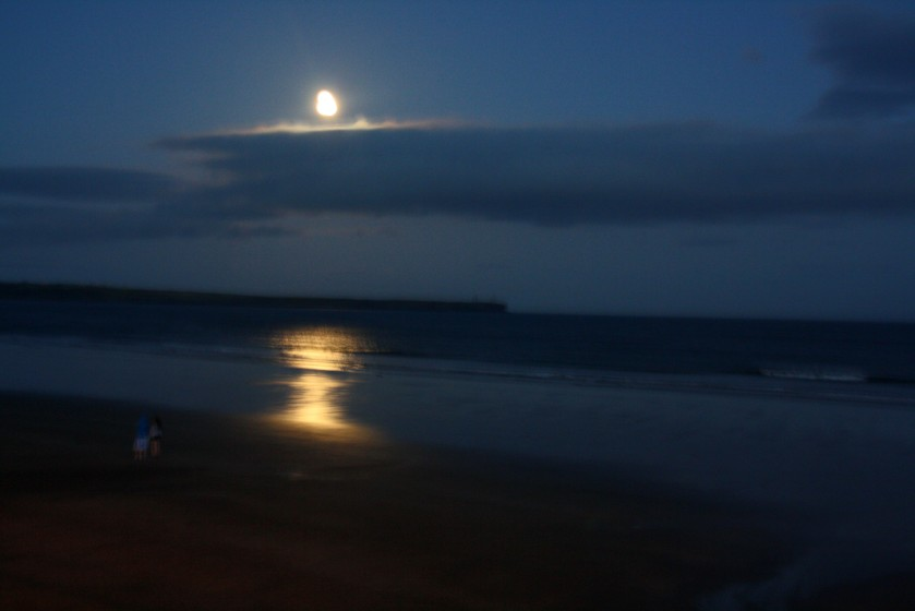 Moon over Tramore Bay, Co. Waterford.