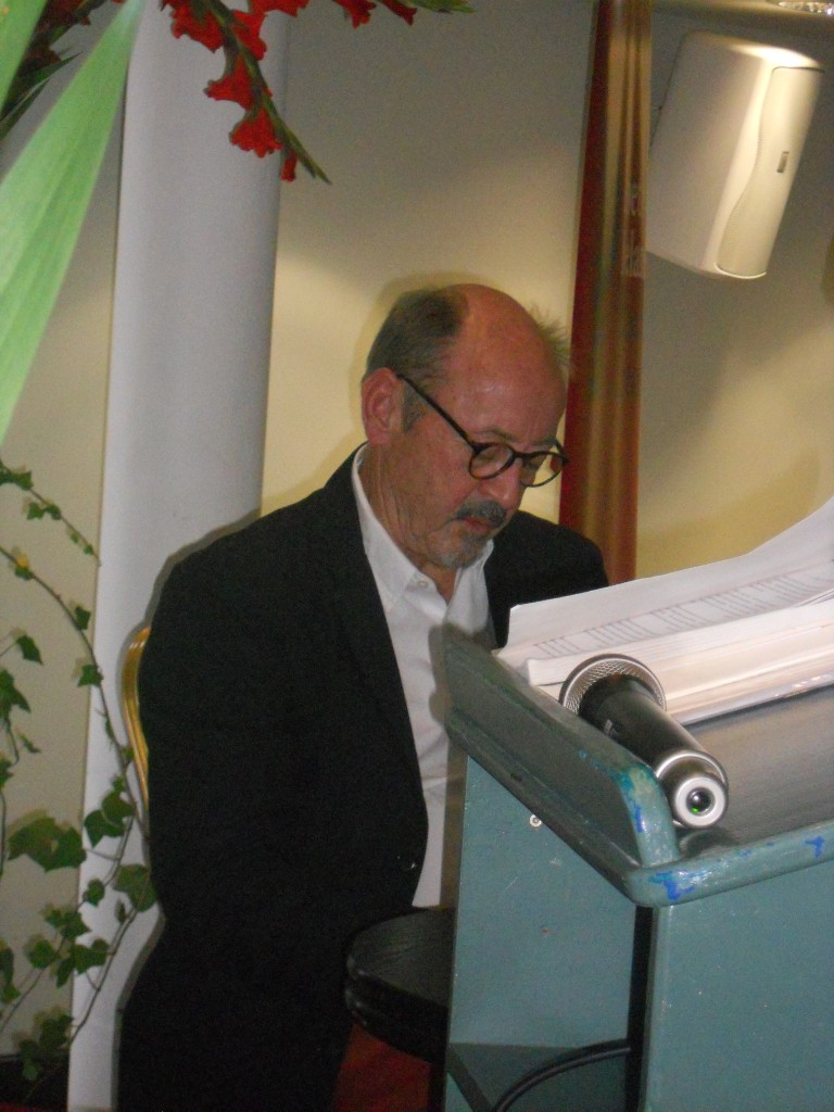 Billy Collins at The Parade Tower, Kilkenny Castle, Kilkenny,  August 2014
