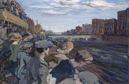 The Liffey Swim by Jack.B.Yeats www.nationalgallery.ie