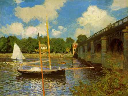 The Bridge at Argenteuil www.cmonetgallery.com