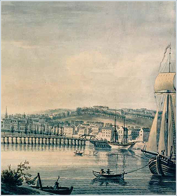 'East View of Waterford' by Thomas Sautelle Roberts. December 19th, 1805. Source: Waterford City Council