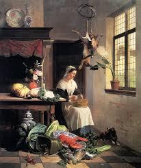David Emile Joseph de Noter (1818-1892), A Maid In The Kitchen