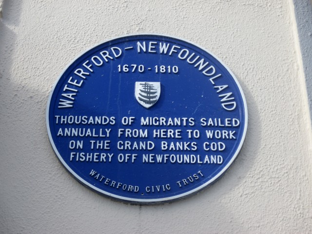 Plaque on The Quay, Waterford City, Ireland