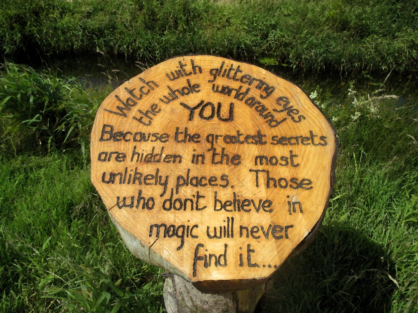 Sign on the Anne Valley Trail, Dunhill, Co. Waterford