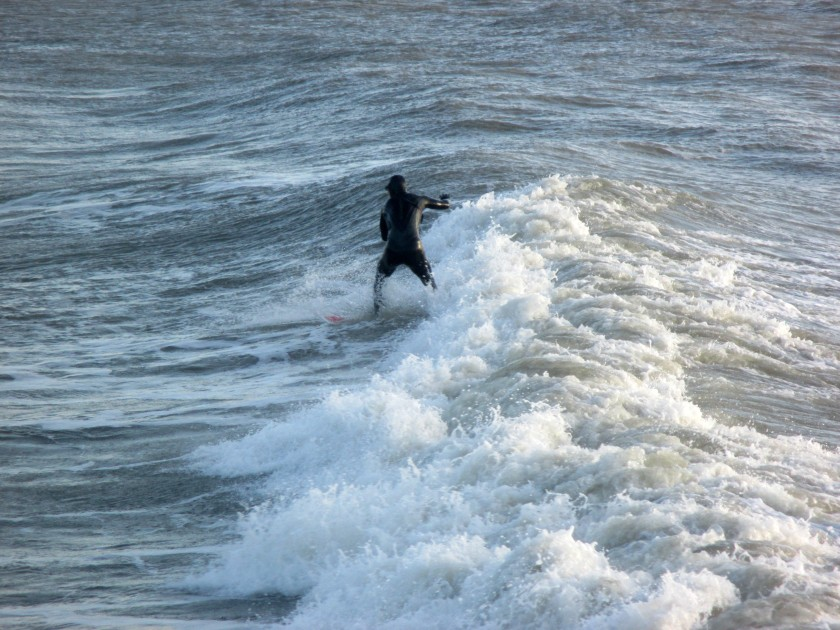 Surfing in Tramore, Co. Waterford