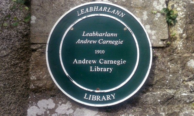 Plaque on Wall by Lismore Library, Co. Waterford