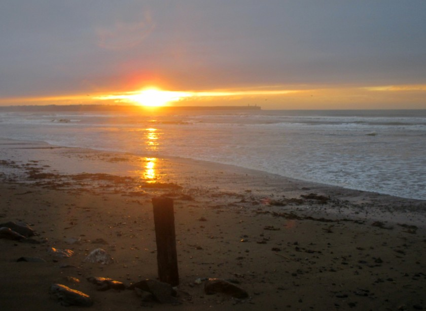 Sunrise on Tramore Beach (Jan 5th, 2016)