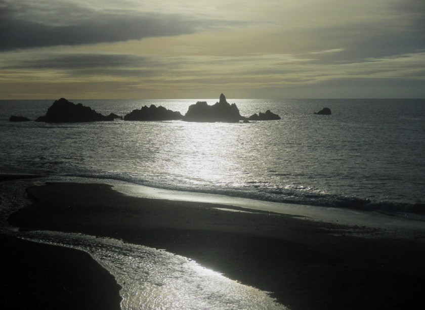 Kilfarrasy Beach ~ all shimmery.