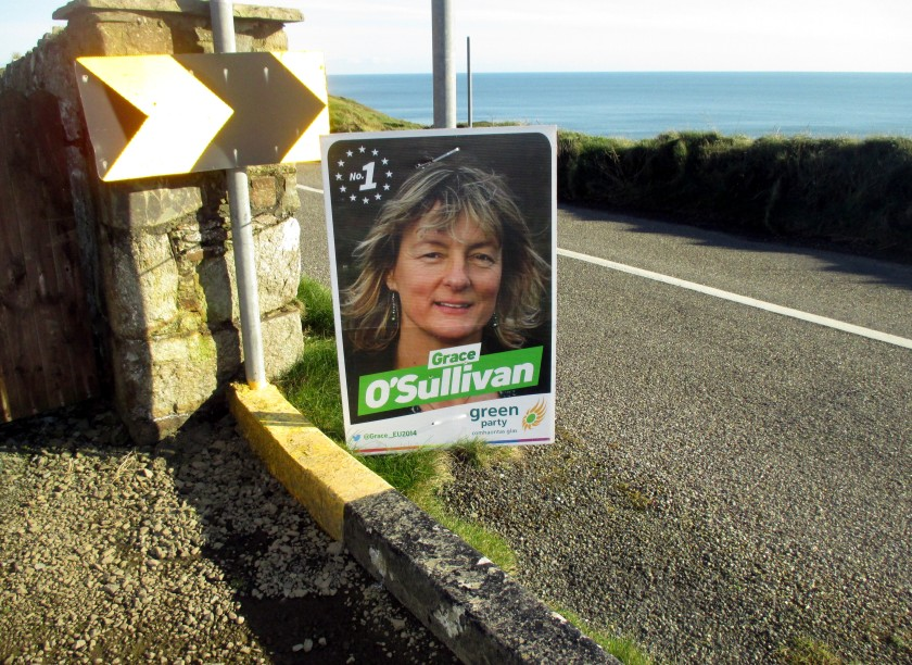 Grace O'Sullivan Poster on the Copper Coast, Co. Waterford.