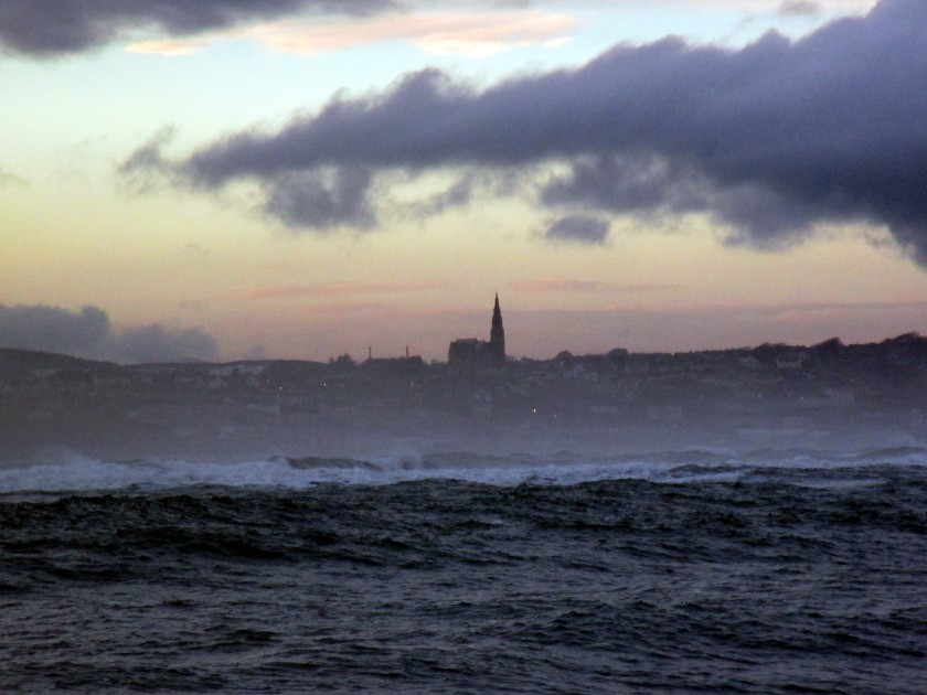 Skyline of Tramore from Saleens